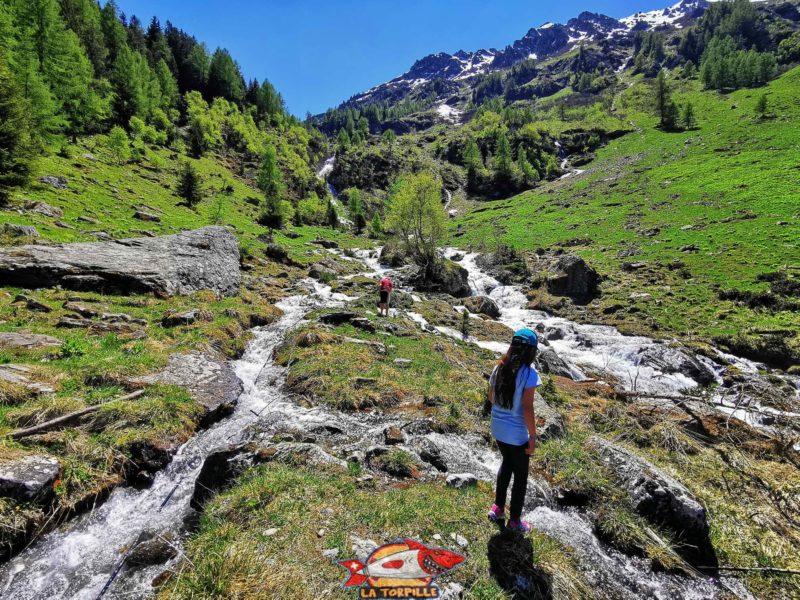 La prise d'eau du bisse de Vercorin dans la rivière Rèche.