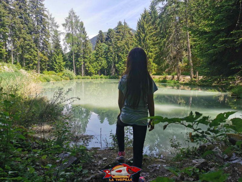 Les eaux grises de l'étang de Briey.