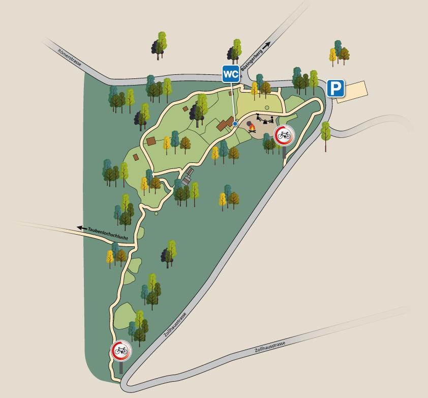 Le plan du parc zoologique de Bienne.
