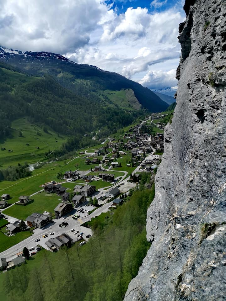 La via ferrata d'Evolène