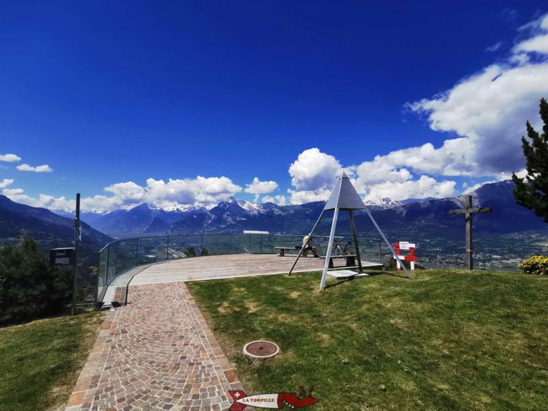 La plateforme panoramique des Jausses.