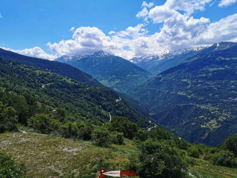 La plateforme panoramique des Jausses. vue Sud
