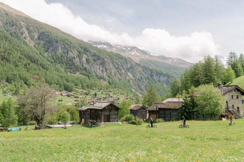 La région sauvage du val d'Hérens.