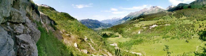 Le paysage depuis la via ferrata.