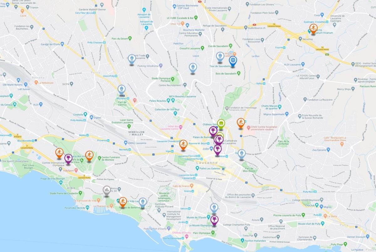 Voir la carte interactive des actiuvités à Lausanne.