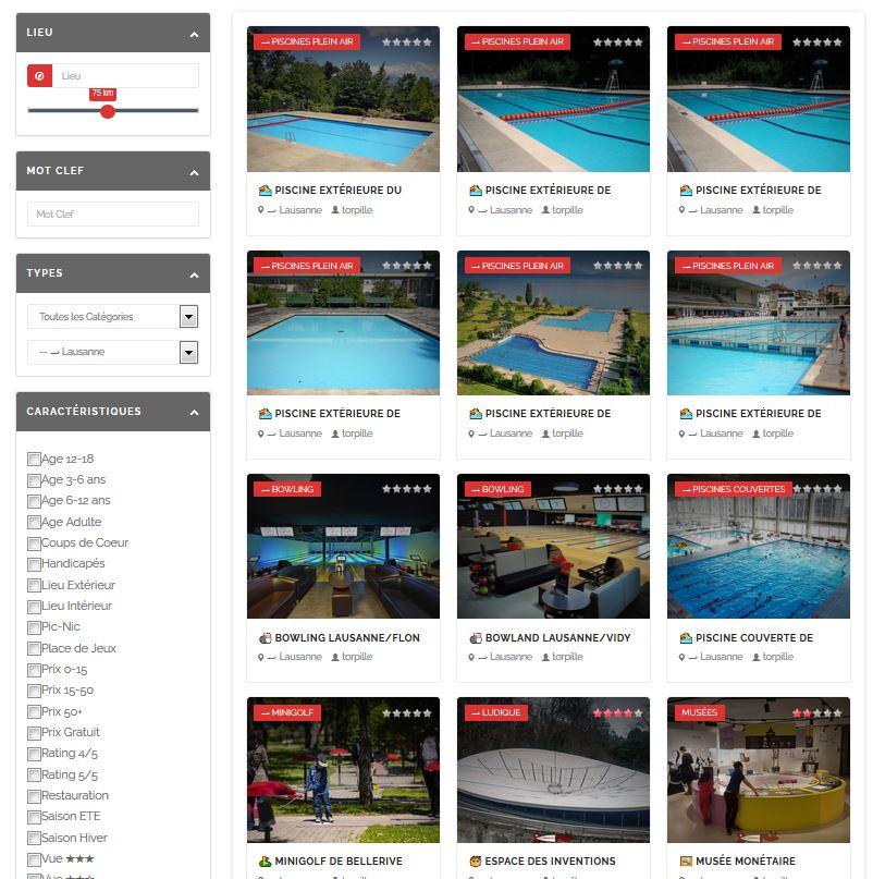 Voir la liste des activités et loisirs à Lausanne.