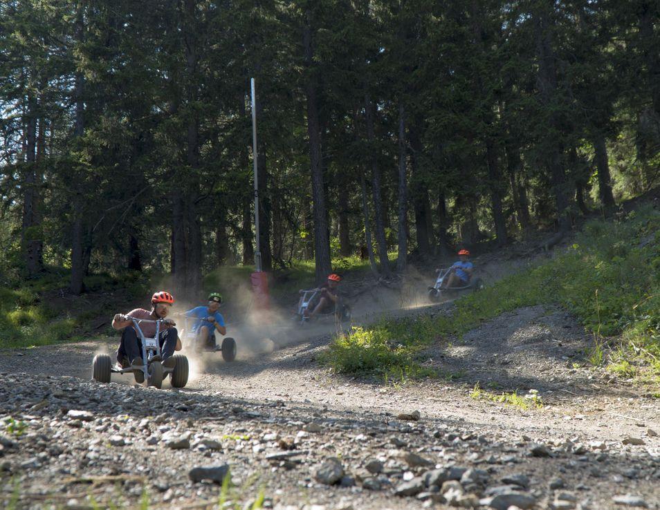 mountain cart crans-montana