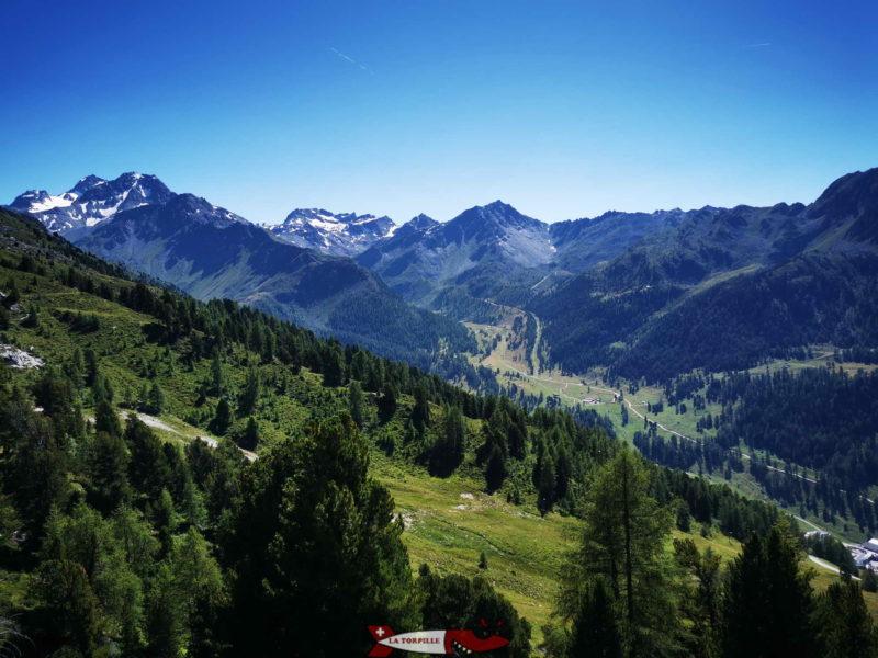 Jolie vue sur le Mont Gelé.
