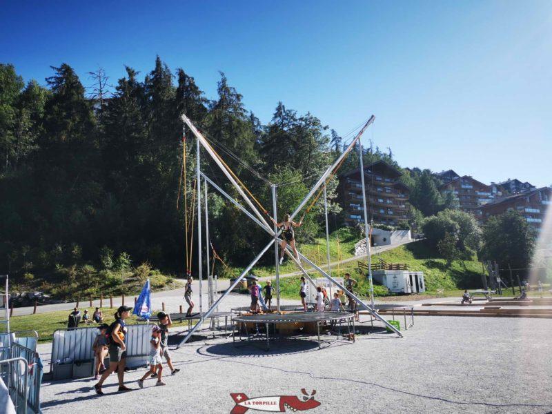 Les trampolines de Nendaz.
