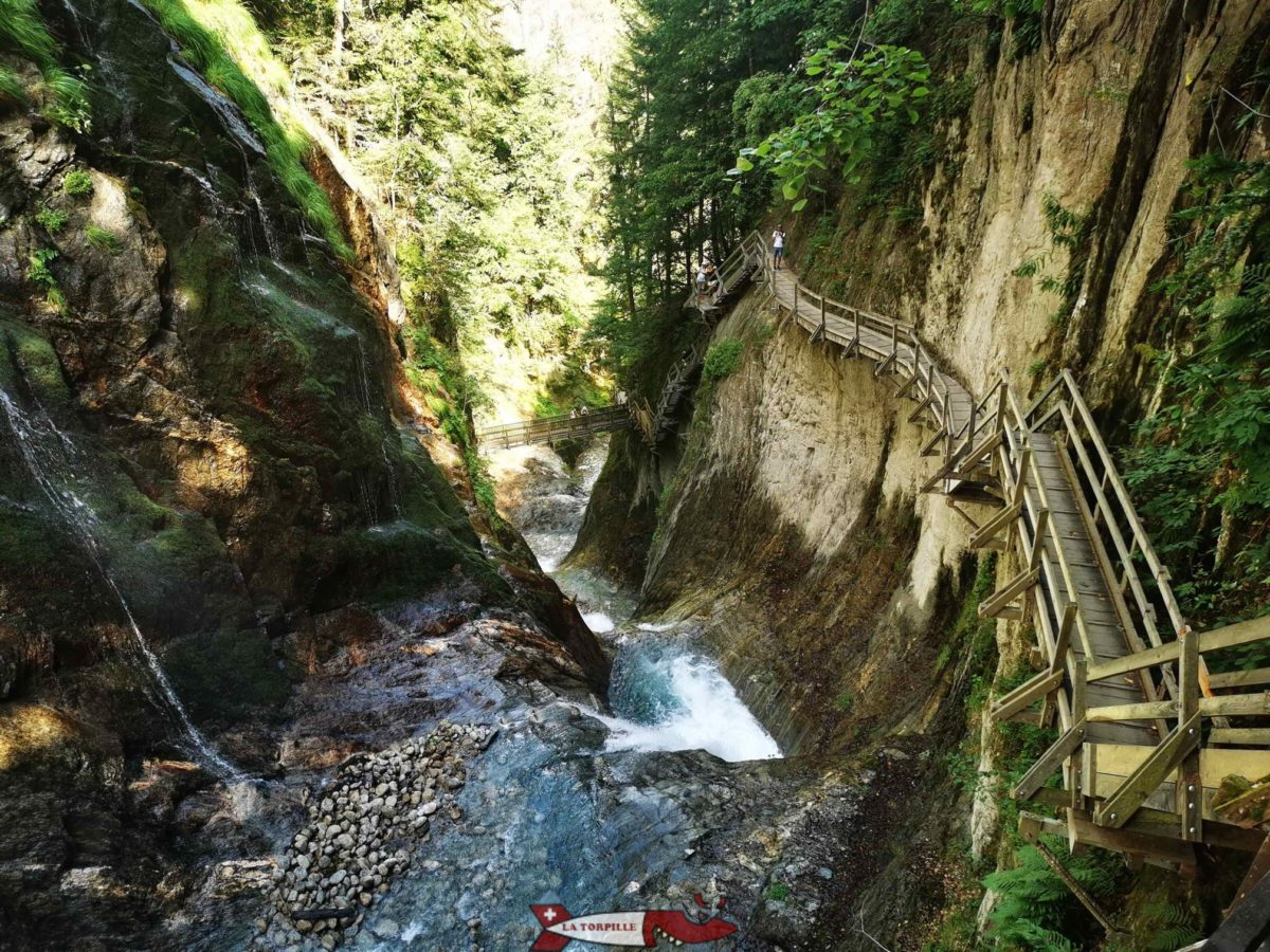 Une des plus belles gorges de Suisse romande avec les gorges du Durnand tout près de Martigny.