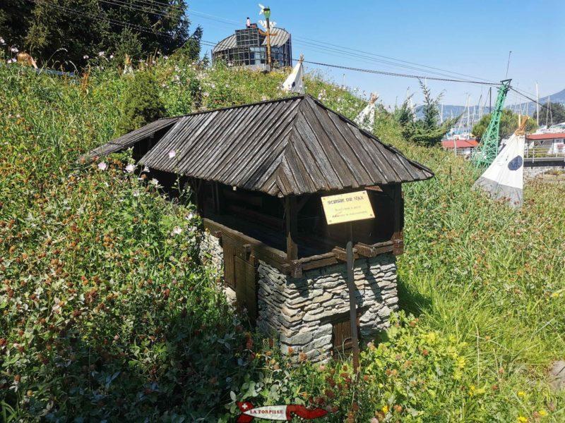 La reproduction miniature de la scierie de Nax au Swiss Vapeur Parc.