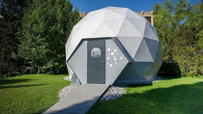 Le Dôme, le planetarium de Sion. C'est le seul planetarium en Suisse romande qui n'est pas associé à un observatoire.