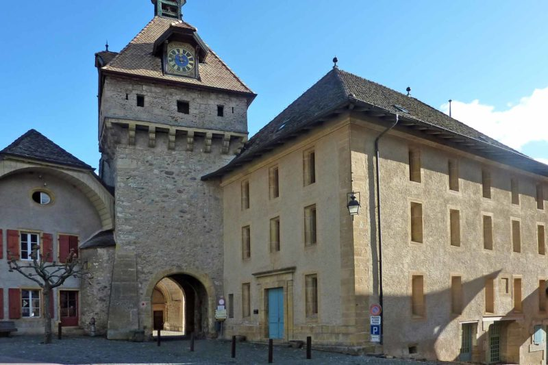 La Tour de l'Horloge de Romainmôtier.