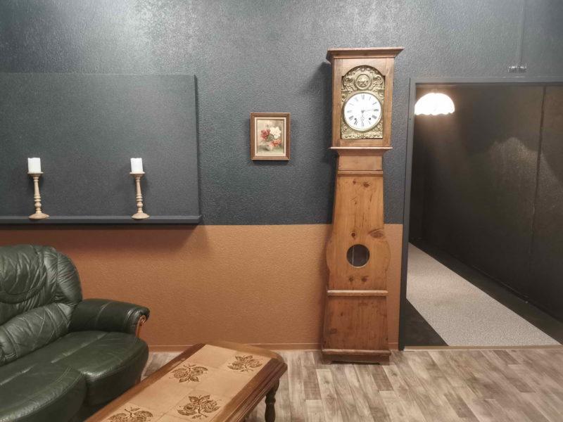 La pièce d'entrée d'Escapeland au premier étage.