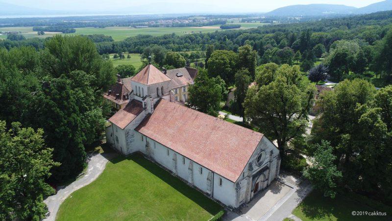 L'ancienne abbatiale de Bonmont.