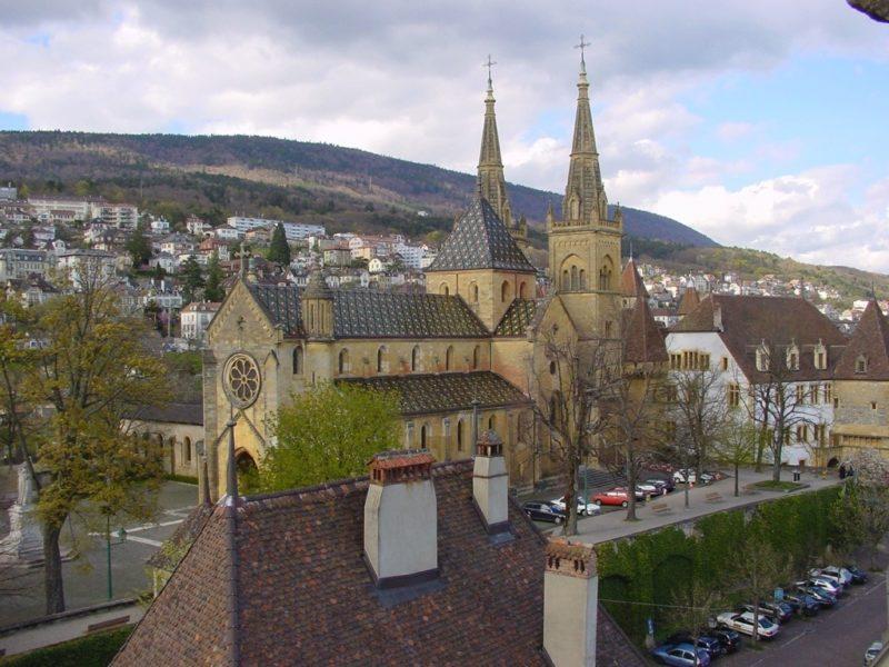 La collégiale de Neuchâtel.