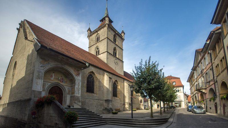 L'église collégiale d'Estavayer.