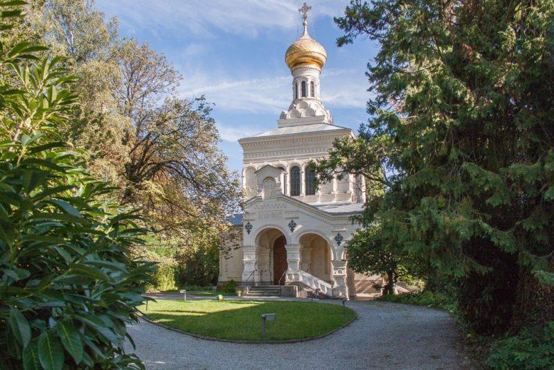 La magnifique église orthodoxe de Vevey.