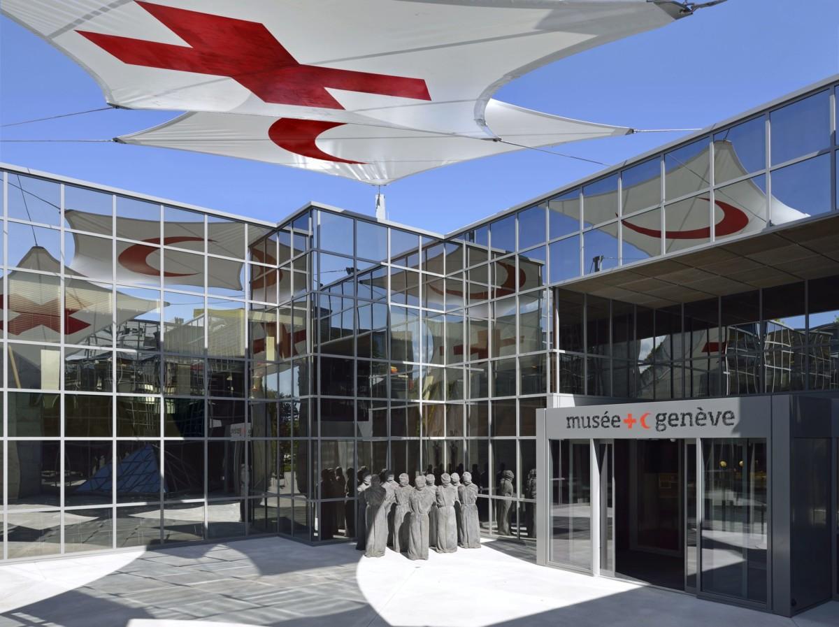 Le musée de la Croix-Rouge tout près de l'ONU dans le quartier des organisations internationales à Genève.
