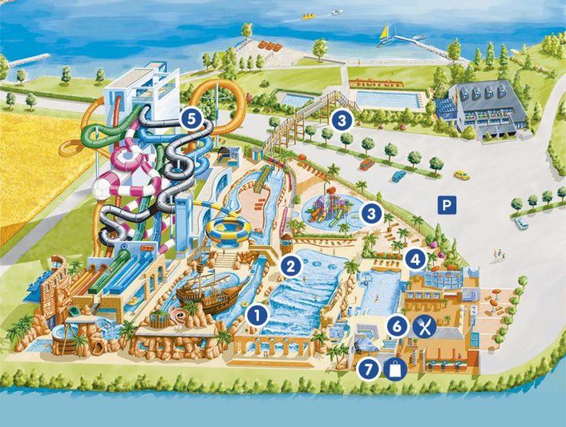 Une image d'ensemble d'Aquaparc