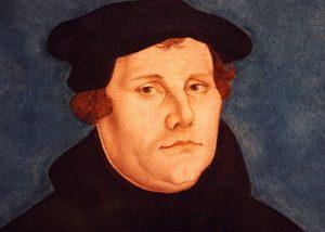 Martin Luther (1483-1546). Il s'agit d'un moine originaire de la Saxe en Allemagne
