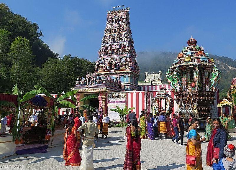 Le temple temple Sri Manonmani Ampal à Trimbach dans le canton de Soleure