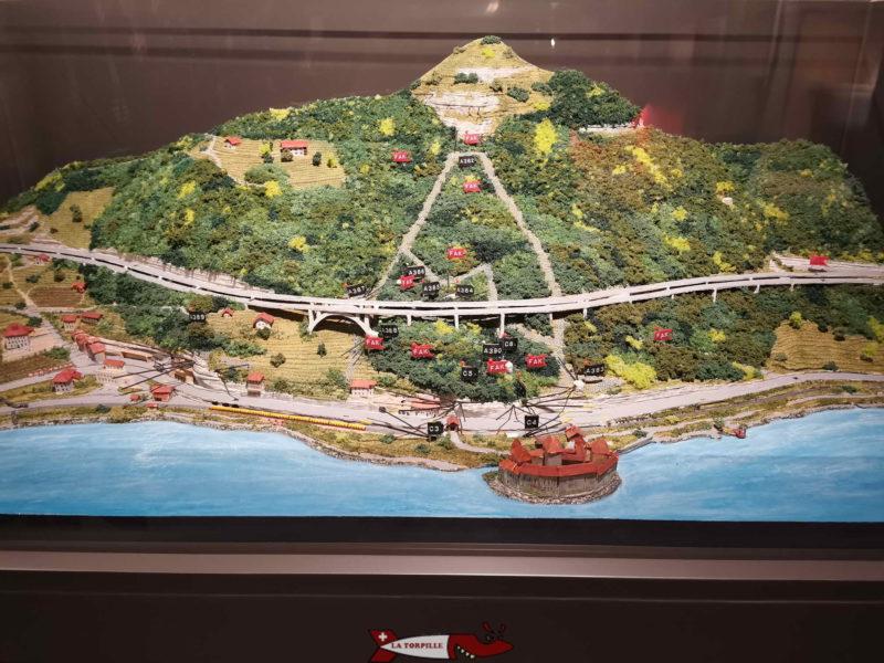 maquette du site de chillon fort de chiilon