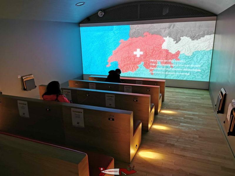 Salle de projection fort de chillon