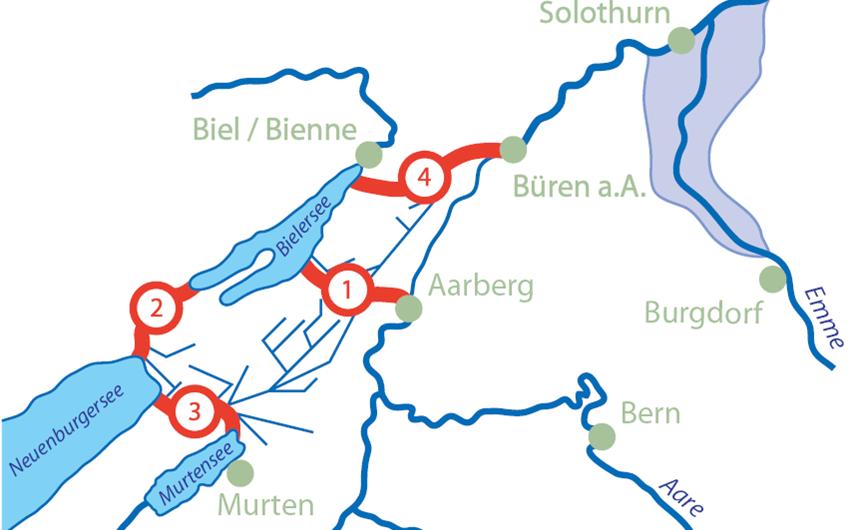 La correction des eaux du Jura.