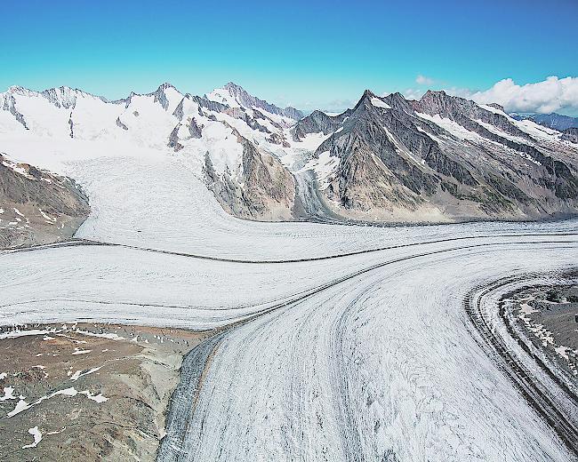 La KonkordiaPlatz en haut du glacier d'Aletsch, dans le Haut-Valais, qui donna son nom à un croisement à 4 du fort de Chillon.
