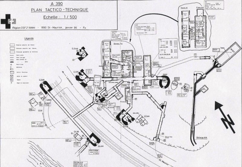 """Le plan détaillé du fort à l'époque """"top secret"""