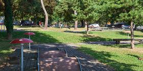 Le minigolf du camping TCS d'Orbe.