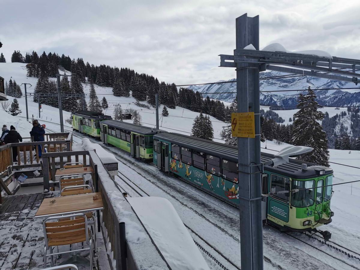 Le départ de la piste de luge de Villars au Col de Soud.