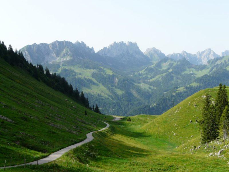 Les Gastlosen depuis l'Euschelspass.