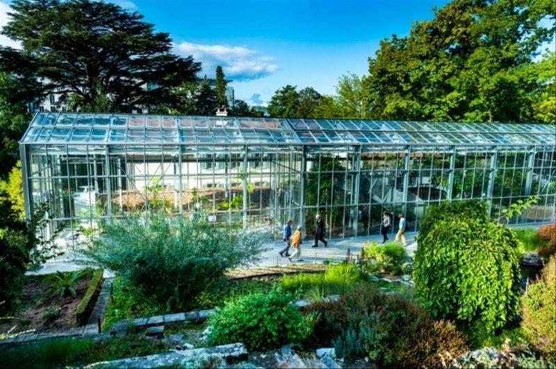 Une serre du jardin botanique de Lausanne.