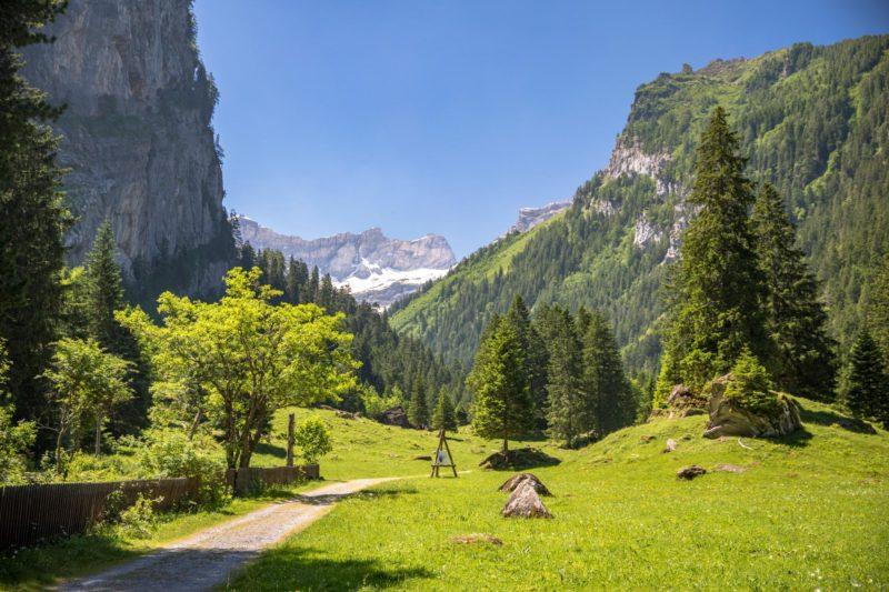 La magnifique région du vallon de Nant au-dessus de Bex.