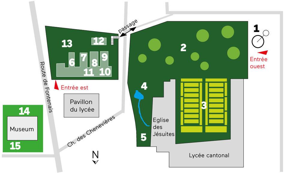 Le plan du jardin botanique de porrentruy