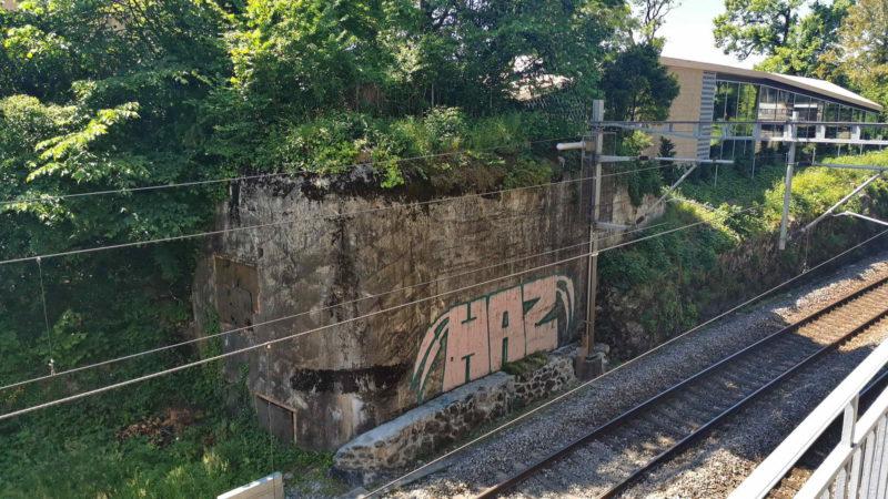 Le bunker C4 à coté du restaurant du château de Chillon.